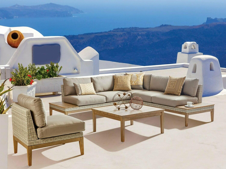 South Sea Rattan Candace Wicker Terra Sectional Lounge Set