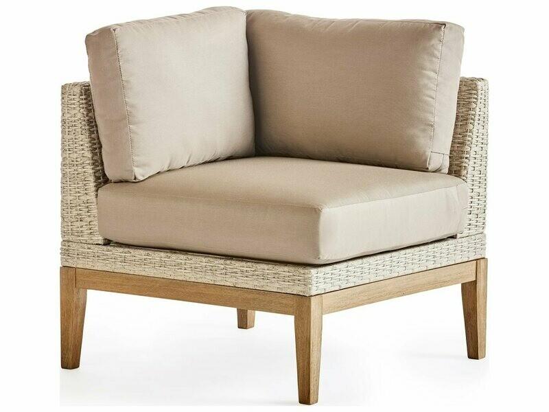 South Sea Rattan Candace Wicker Terra Corner Lounge Chair