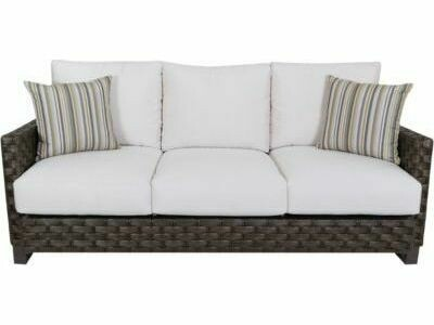 South Sea Rattan Cambridge Aluminum Wicker Sofa