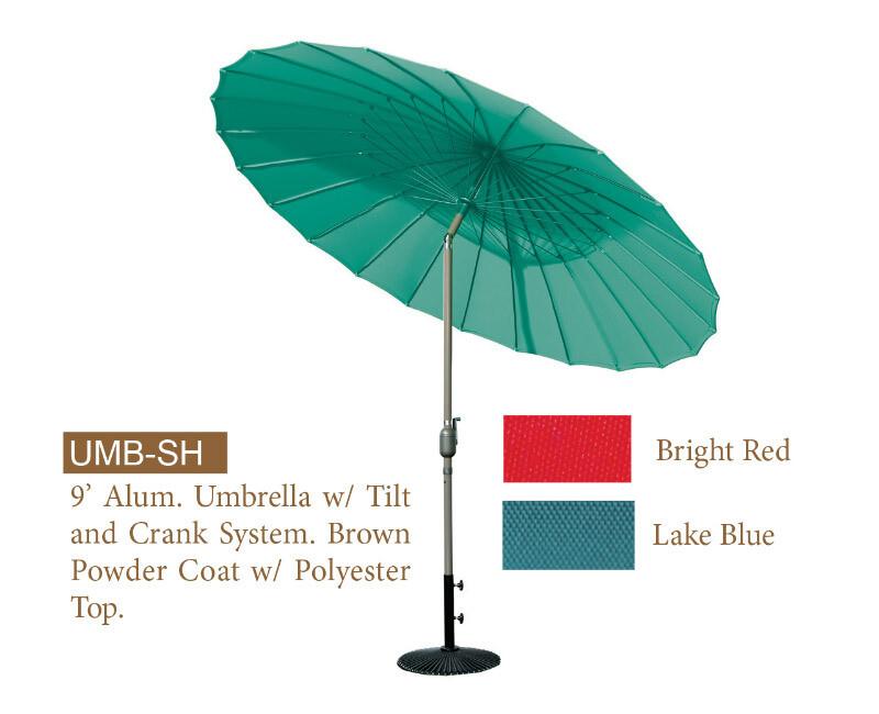 9' Aluminum Tilt & Crank Steel Umbrella