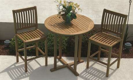 Royal Teak Collection 39'' Wide Round Bar Table