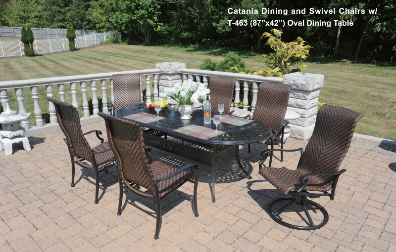 Catania Collection Oval Dining Set