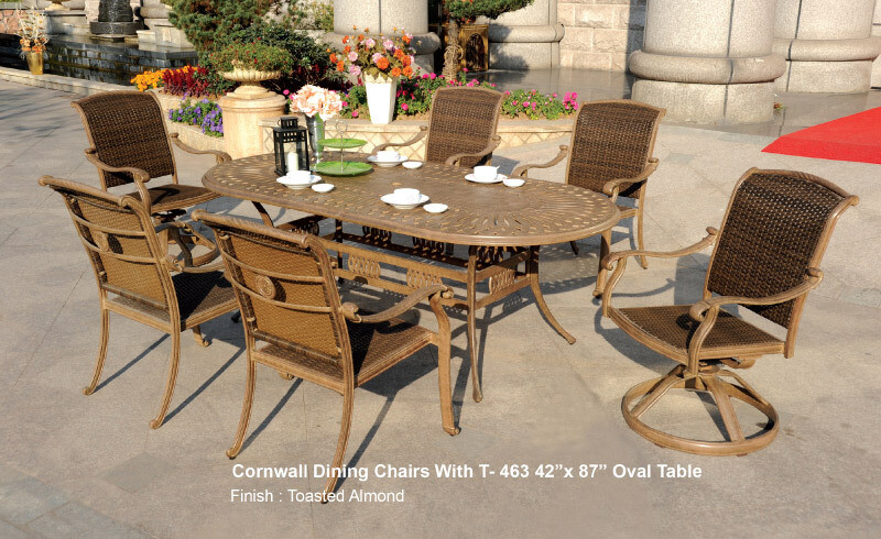 Cornwall Collection 7pc Oval Dining Set
