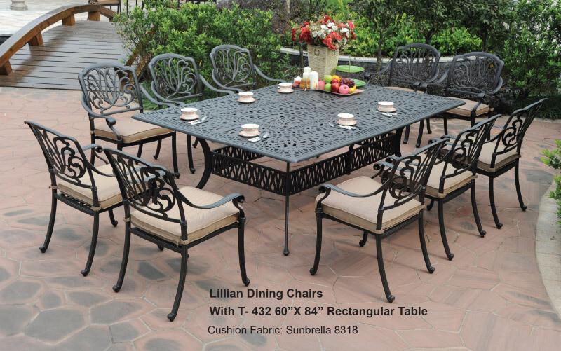 Lilian Collection 11pc Rectangular Dining Set