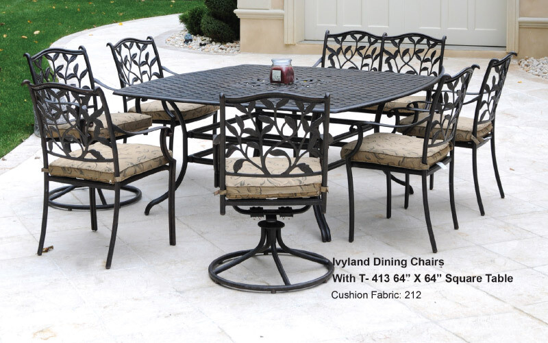 Ivyland Collection Square 7pc Dining Set