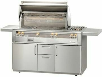 Alfresco ALXE 56-Inch Natural Gas Deluxe Grill With Sear Zone, Rotisserie