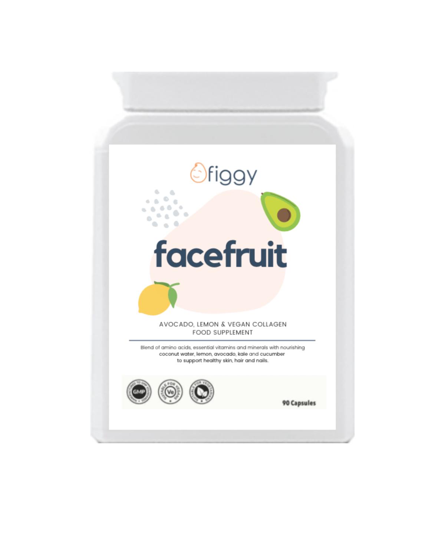 Figgy Facefruit Lemon, Avocado & Vegan Collagen Supplements