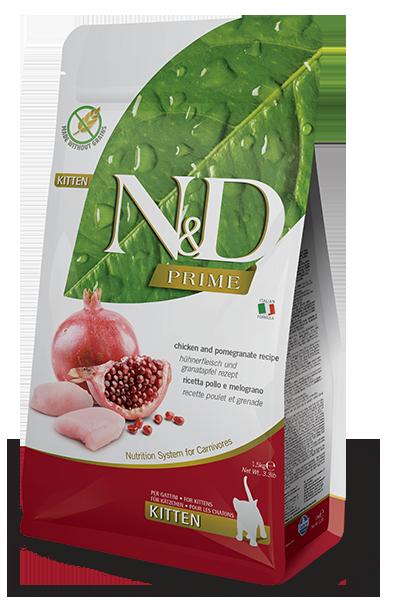 Farmina N&D Prime Chicken & Pomegranate Kitten Dry Cat Food, 3.3-lb