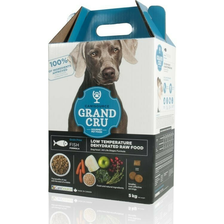 CaniSource Grand Cru Fish Formula Grain-Free Dehydrated Dog Food, 5-kg