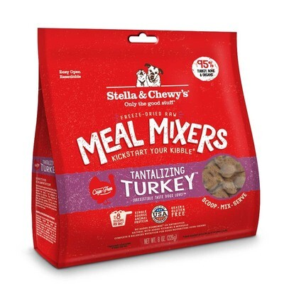 Stella & Chewy's Tantalizing Turkey Meal Mixers Grain-Free Freeze-Dried Dog Food, 8-oz bag