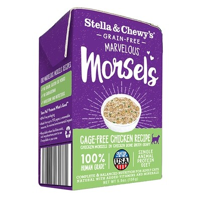 Stella & Chewy's Marvelous Morsels Cage-Free Chicken Recipe Wet Cat Food, 5.5-oz