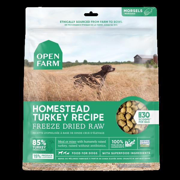 Open Farm Homestead Turkey Recipe Raw Freeze-Dried Dog Food, 13.5-oz