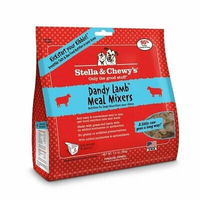 Stella & Chewy's Dandy Lamb Meal Mixers Grain-Free Freeze-Dried Dog Food, 3.5-oz bag