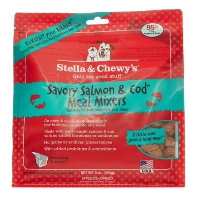 Stella & Chewy's Savory Salmon & Cod Meal Mixers Grain-Free Freeze-Dried Dog Food, 9-oz bag