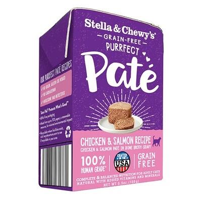 Stella & Chewy's Purrfect Paté Chicken & Salmon Medley Wet Cat Food, 5.5-oz