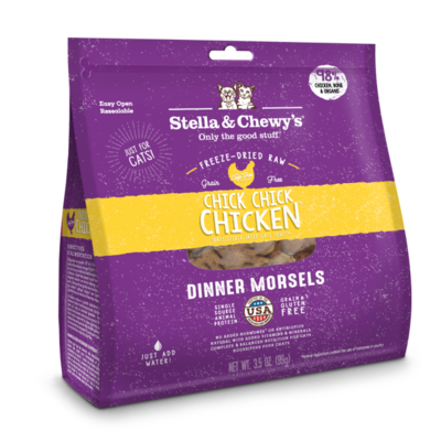 Stella & Chewy's Chick Chick Chicken Dinner Freeze-Dried Cat Food, 3.5-oz bag