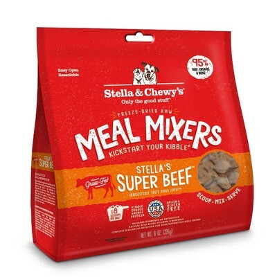 Stella & Chewy's Stella's Super Beef Meal Mixers Grain-Free Freeze-Dried Dog Food, 8-oz bag
