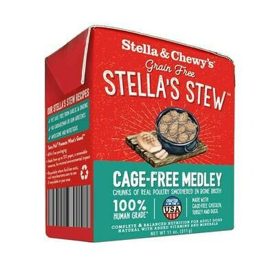 Stella & Chewy's Stella's Stew Cage-Free Medley Wet Dog Food, 11-oz
