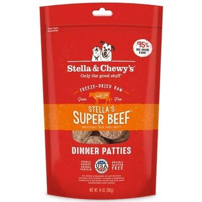 Stella & Chewy's Stella's Super Beef Dinner Patties Grain-Free Freeze-Dried Dog Food, 14-oz bag