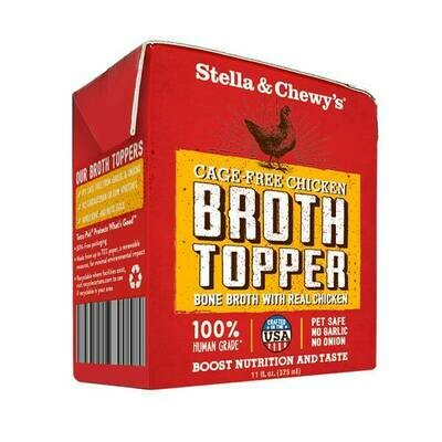 Stella & Chewy's Broth Topper Cage-Free Chicken for Dogs, 11-oz