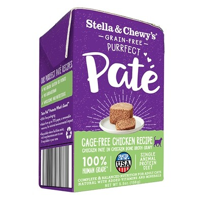 Stella & Chewy's Purrfect Paté Cage-Free Chicken Recipe Wet Cat Food, 5.5-oz
