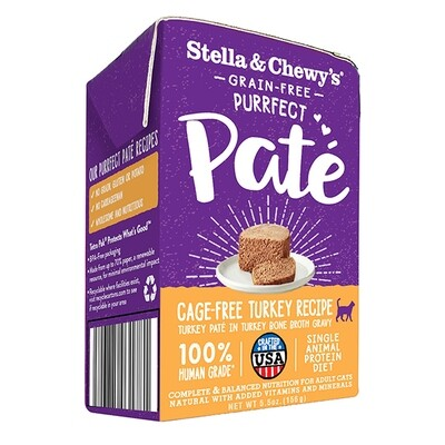 Stella & Chewy's Purrfect Paté Cage-Free Turkey Recipe Wet Cat Food, 5.5-oz