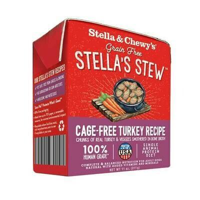Stella & Chewy's Stella's Stew Cage-Free Turkey Wet Dog Food, 11-oz
