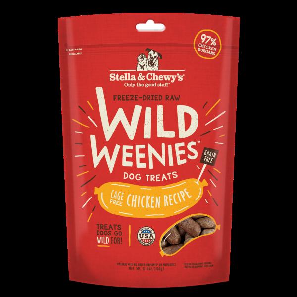 Stella & Chewy's Wild Weenies Dog Grain-Free Dog Treats Chicken Recipe 326g