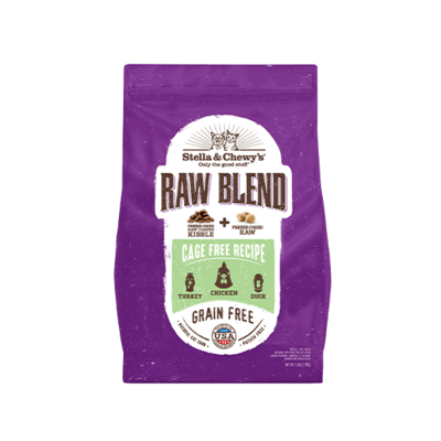 STELLA & CHEWY'S® CAGE FREE RECIPE RAW BLEND KIBBLE DRY CAT FOOD 10 LB