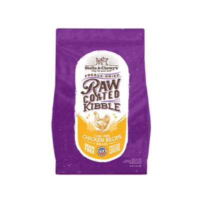STELLA & CHEWY'S® CAGE-FREE CHICKEN RECIPE RAW COATED KIBBLE DRY CAT FOOD 10 LB
