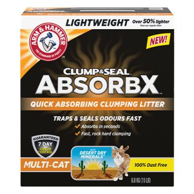 ARM & HAMMER™ CLUMP & SEAL™ ABSORBX™