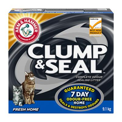 ARM & HAMMER™ CLUMP & SEAL™ FRESH HOME CAT LITTER 2 X 9.1 KG