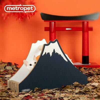 METROPET MOUNT FUJI SCRATCHER CAT BED WITH SCRATCHER BEAM-COLUMN