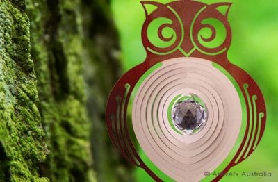 Aussie Spinners - Contempo Collection - Woodland Owl 30cm with Crystal Ball