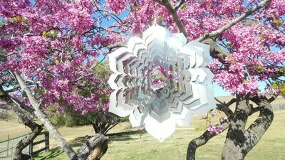 Aussie Spinners - Designer Contempo Collection - Crystal Mandala 30cm - 304 Stainless Steel & Made in Australia