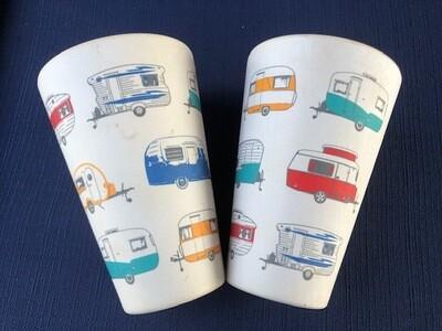 X Caravan - Bamboo Mugs - Coloured Vans