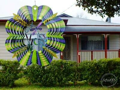 Aussie Spinners - Classic Collection - 3D Green & Purple Dragonfly 30cm