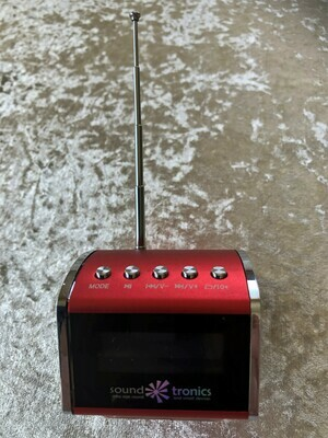 Portable MiNi - Red HiFi SPEAKER - Radio, Bluetooth and play your USB - FREE Postage
