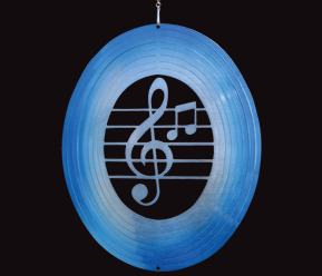 Aussie Spinners  - Classic Collection - Music Note - Blue and Silver  30cm