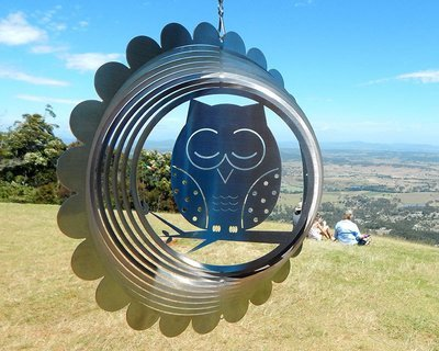 Aussie Spinners - Designer Collection - Owl 26cm - 304 Stainless Steel & Made in Australia