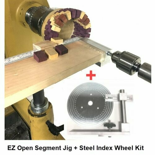 EZ Open Segment Form Jig With Index Wheel System for Woodturning Lathes
