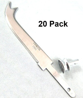 Cheese Knife 3in Forked (Stainless) w/ Bolster 20 Pack (Project Kit)