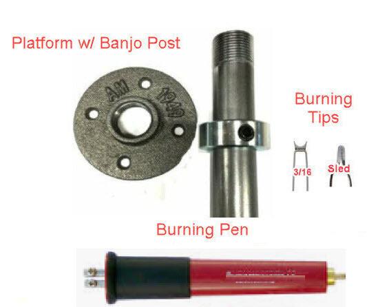 Basket Weave Illusion DIY 4pc Burning Pen Kit (Bead & Sled) Woodturning
