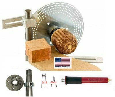 EZ Basket Weave Illusion Kit with Woodturning Lathe Index System
