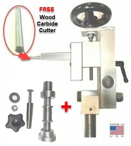 EZ Sphere COMBO Jig with Threading Spindle add-on Kit - Cut a perfect sphere or cut wooded threads with the same jig