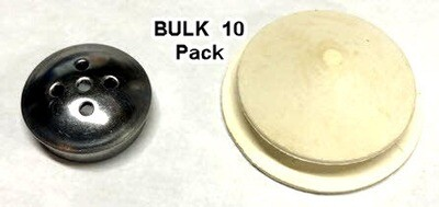 Salt Shaker Stainless Cap and Plug Bulk 10 Pack