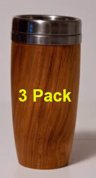 3 Pack - Threaded Stainless Coffee Mug Insert (Woodturning)   Kit
