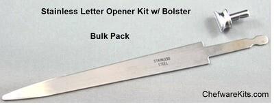 Letter Opener Knife Kit (Stainless) w/ Bolster - Bulk Pricing (Ideal for Wood, Stone or Glass handle)