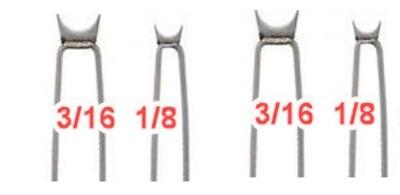 Basket Weave Illusion Burning Bead 1/8 + 3/16 Tips 4 Pack
