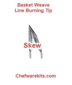 Basket Weave Illusion Skew Burning Tip